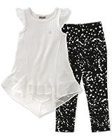 Calvin Klein Girls' 2 Pieces Tunic Pant Set-Chiffon