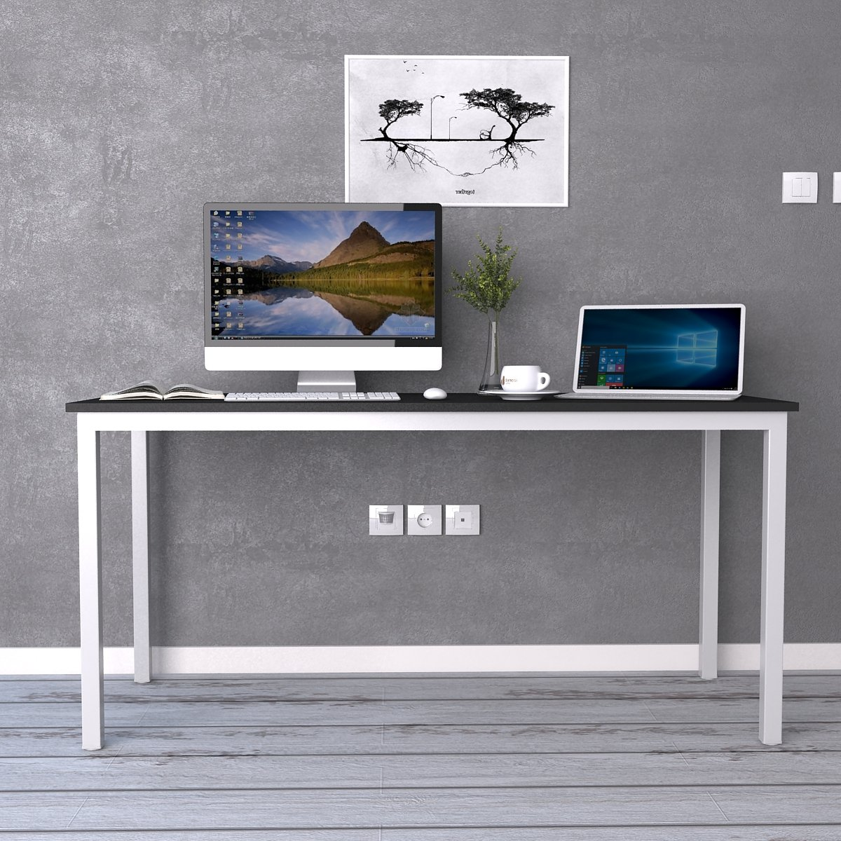 Need Computer Desk 63'' Large Desk Writing Desk with BIFMA Certification Workstation Office Desk, AC3CW-160