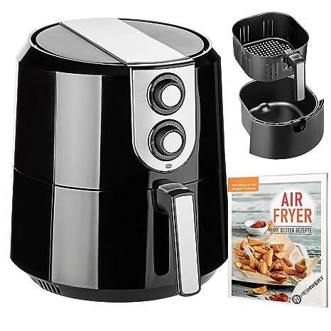 Cuisinier Deluxe – XXL PREMIUM freidora de aire caliente Airfryer, 5,2l Capacidad vermögen
