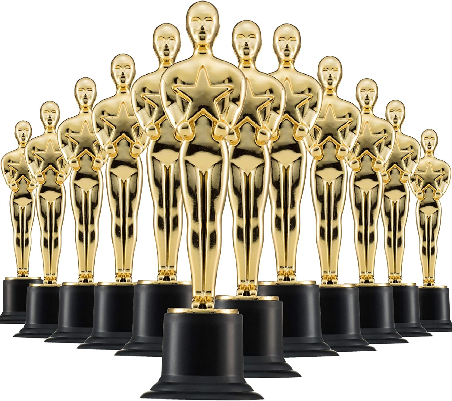 Prextex Gold 6'' Award Trophies (12 Pack) for Ceremonies or Parties: Toys & Games