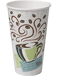 Dixie PerfecTouch 16 oz. Insulated Paper Hot Coffee Cup by GP PRO , Coffee Haze, 5356DX, 500 Count