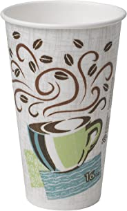 Dixie PerfecTouch 16 oz. Insulated Paper Hot Coffee Cup by GP PRO (Georgia-Pacific), Coffee Haze, 5356DX, 500 Count (25 Cups