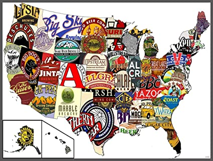 SJ1162 United States USA Beer Map Cool 24x18 Print POSTER on usa dairy map, usa beach map, usa poultry map, usa games map, usa basketball map, usa wineries map, soda usa map, usa love map, usa water map, usa map art, funny us state map, usa map states and capital puzzle, usa fishing map, usa fish map, usa europe map, usa fun map, american funny world map, usa whisky map, usa history map, usa food map,