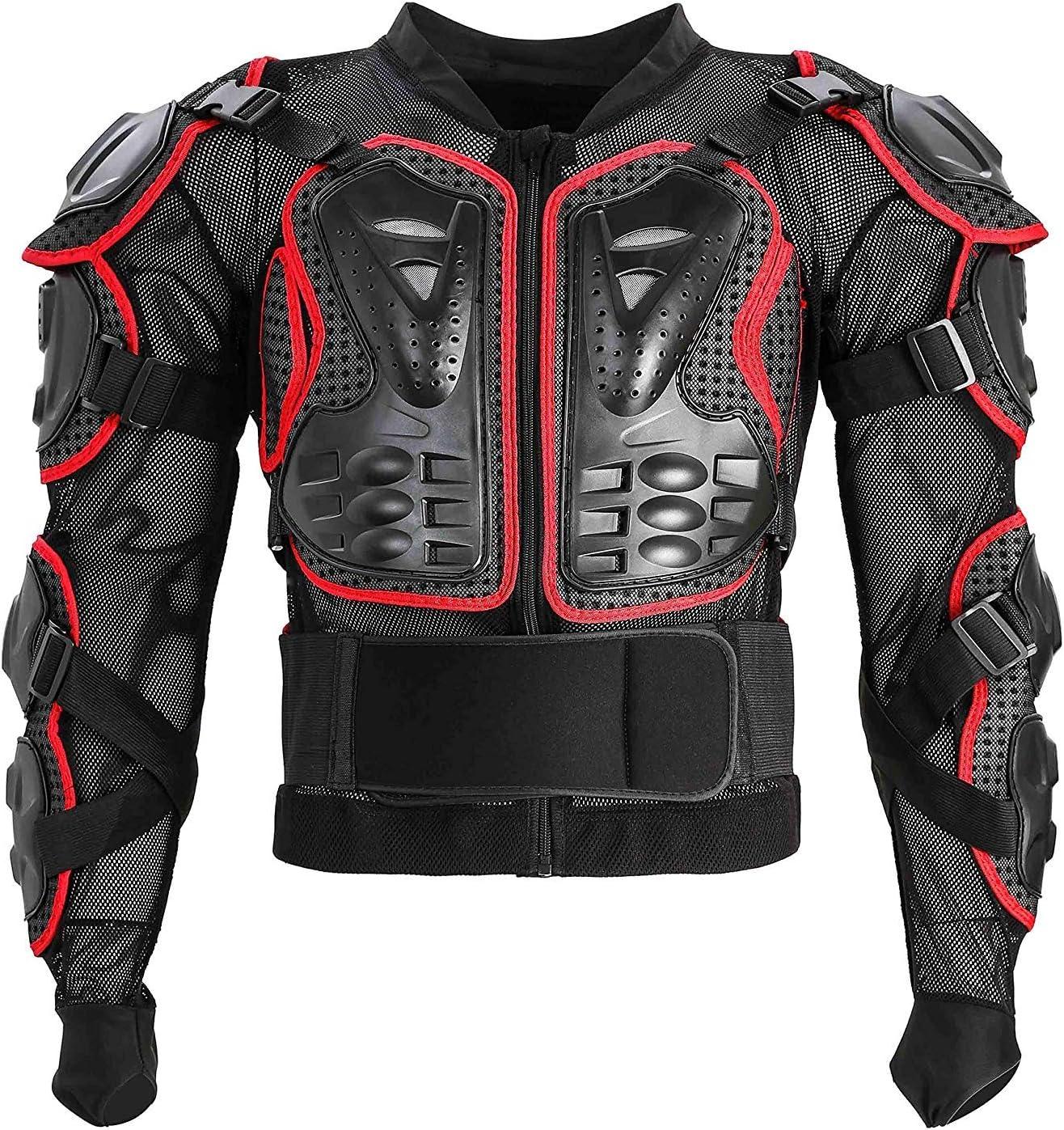 XL Naranja Chaqueta Protectora para Motocicleta GearX Impermeable t/érmico Desmontable