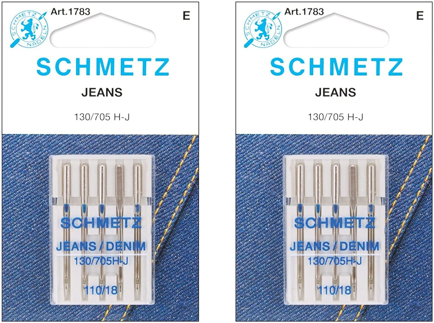 Jean & Denim Machine Needles-Size 18/110 5/Pkg (2 pack) BCAC21615