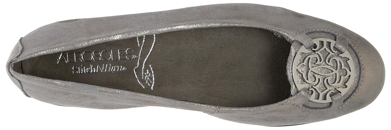 Aerosoles Women's Exhibet Ballet Flat B06Y5ZF1YQ 7.5 W US|Silver Suede
