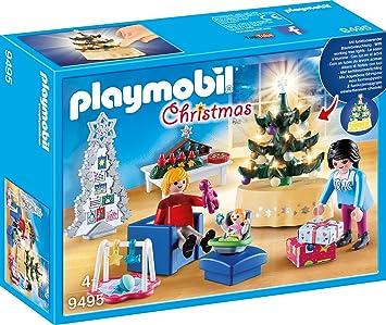 Playmobil Weihnachten.Playmobil 9495 Spielzeug Weihnachtliches Wohnzimmer Unisex Kinder