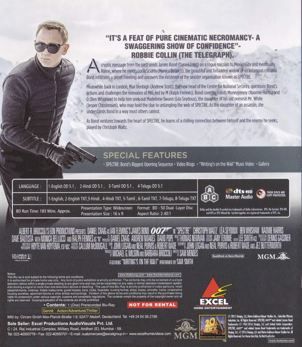 Amazon in: Buy 007: Spectre - Daniel Craig as James Bond DVD, Blu