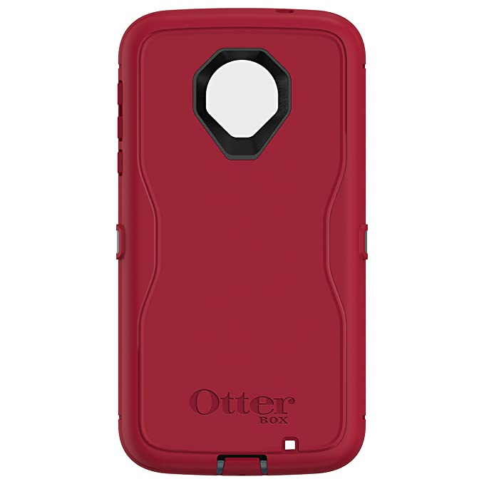 size 40 8bcf0 bb81c OtterBox Defender Series Case for Motorola Moto Z Force Droid Edition -  Retail Packaging - Regal (Tempest Blue/Flame RED)