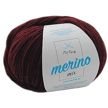 Merinowolle Zum Häkeln 1 Knäuel Merino Wolle Bordeaux Fb 4