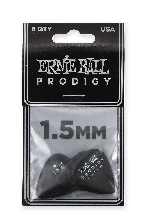 Ernie Ball 1.5mm Black Standard Prodigy Picks Paquete de 6: Amazon.es: Instrumentos musicales