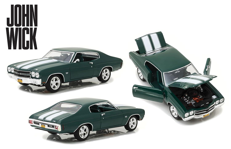 Greenlight Collectibles/ 13505 /Chevelle SS 396/John Wick/ /1970/Auto Miniatur-Collection gr/ün//wei/ß /Chevrolet/
