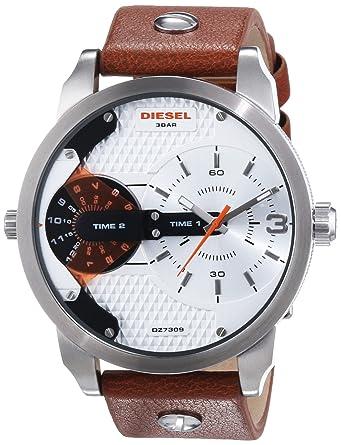 Diesel Dz7309 Herren Armbanduhr Xl Leder Braun