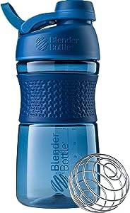 BlenderBottle SportMixer Twist Cap Tritan Grip Shaker Bottle, 20-Ounce, Navy