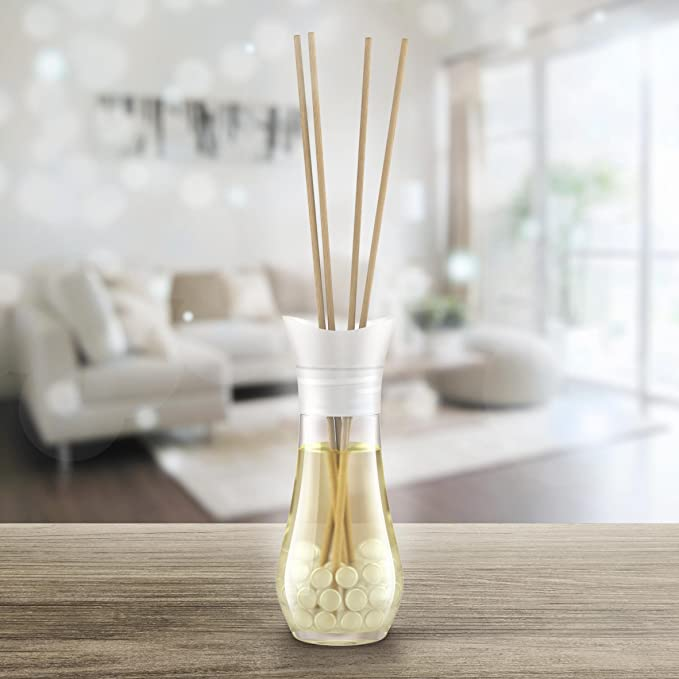 Air Wick - Scented fragrance sticks. Turquoise Oasis 7.5x5.4x20.5 cm Gl Vase Melted Over Wood on