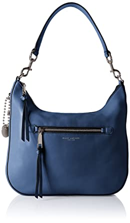 f56b0596a Amazon.com: Marc Jacobs Recruit Hobo, Dark Blue: Clothing