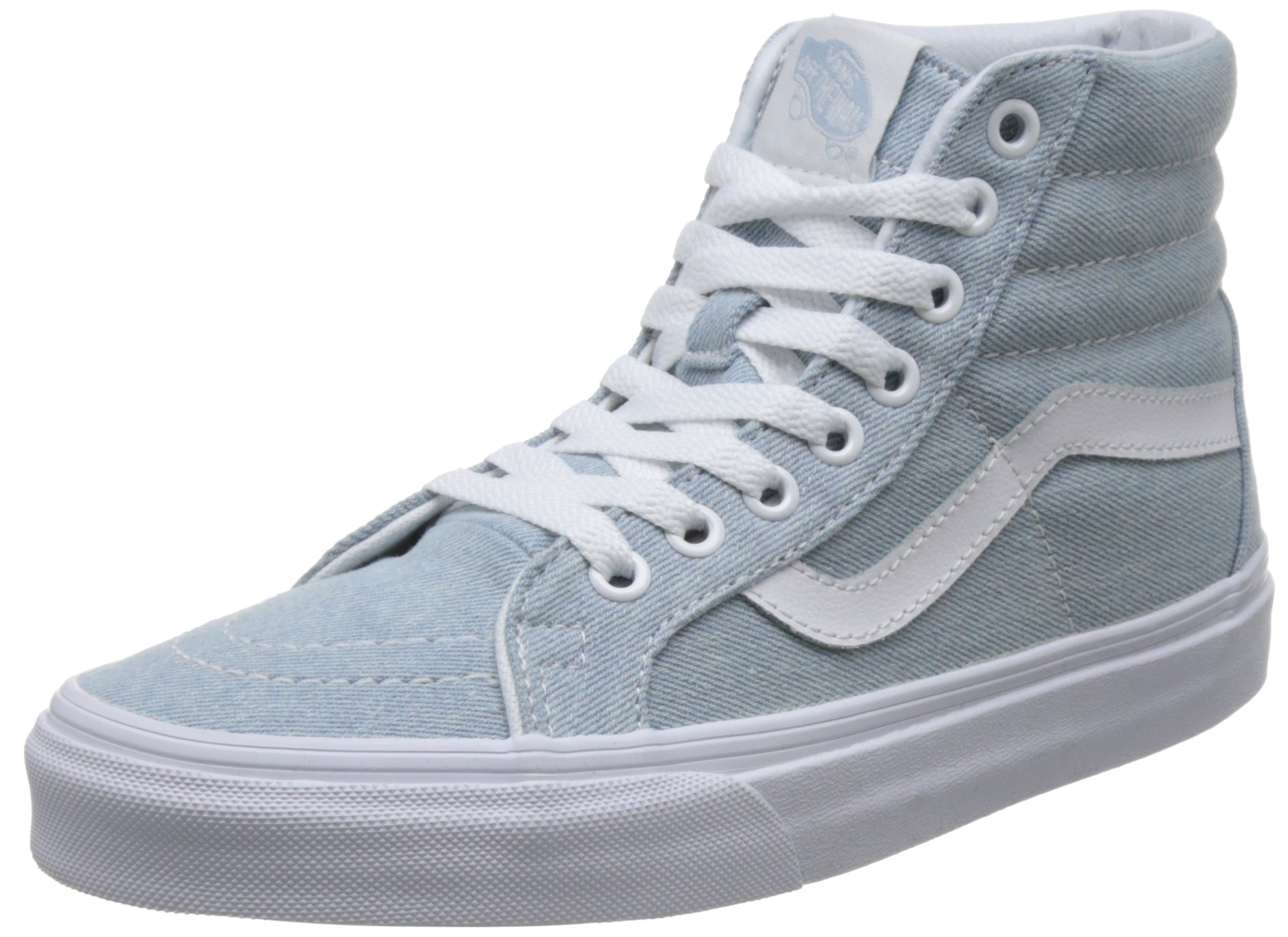 Vans Unisex Sk8-Hi Reissue (Denim) Baby Blue Skate Shoe 6 Men US/7.5 Women US