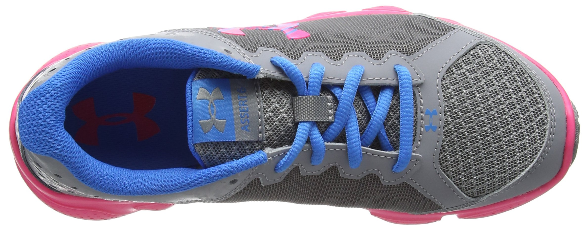 Under Armour Girls' Grade School Micro G Assert 6, Steel (036)/Harmony Red, 5.5 by Under Armour (Image #7)