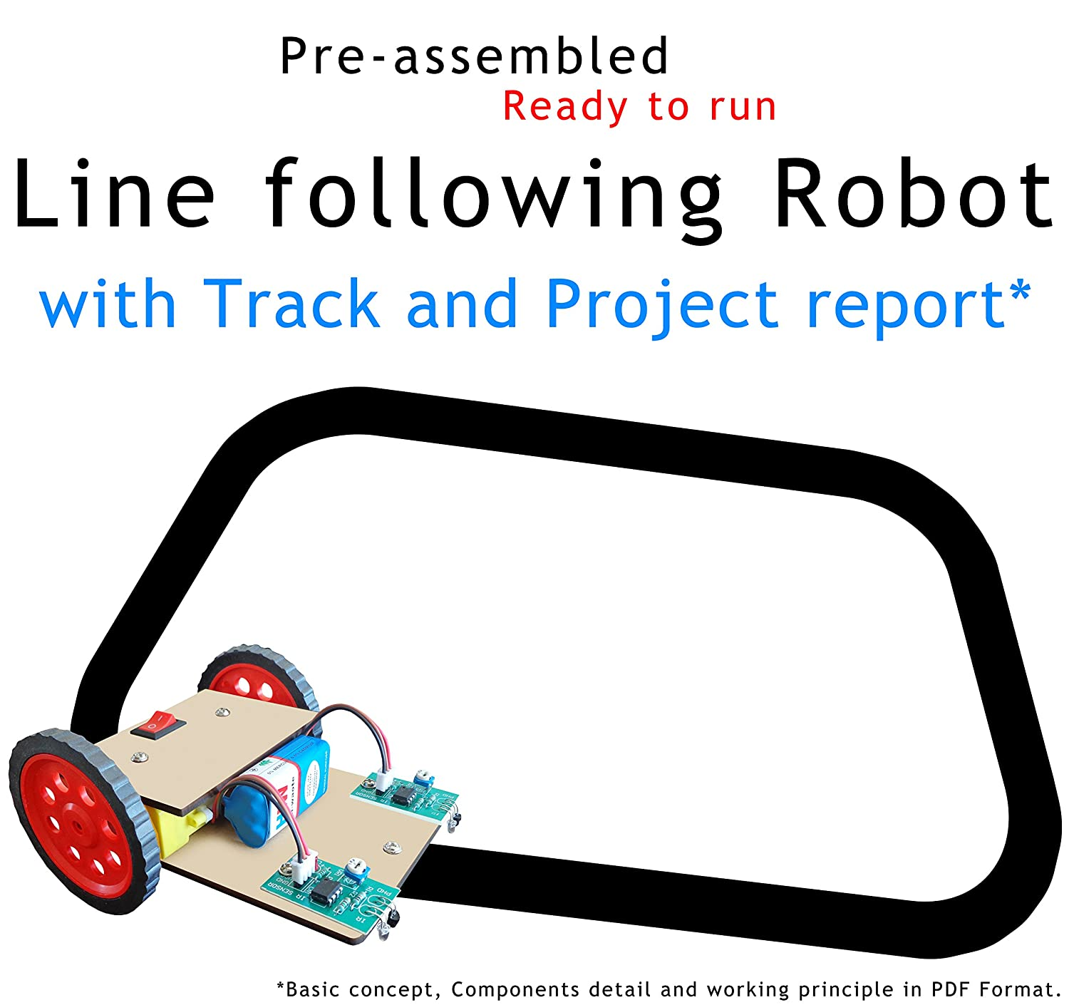 Buy Nasa Tech Line Tracker Following Robot With Track And Project Transistor Follower Circuitschematic Report Multicolour Online At Low Prices In India