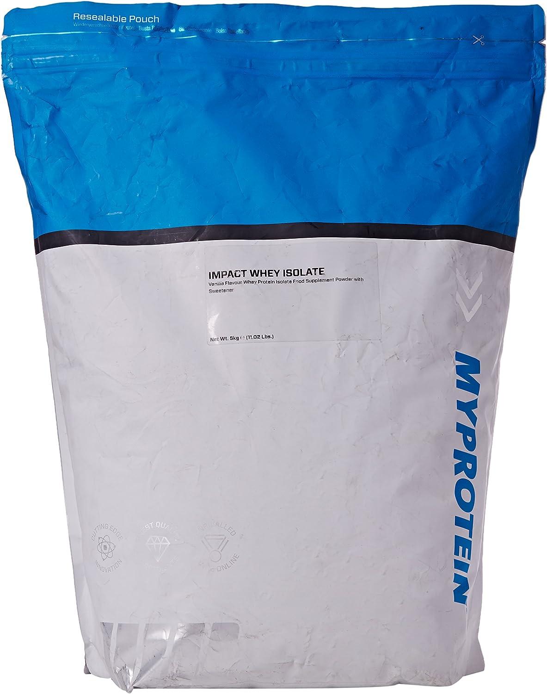 MyProtein Impact Whey Isolate Proteína de Suero, Sabor Vainilla - 5000 gr