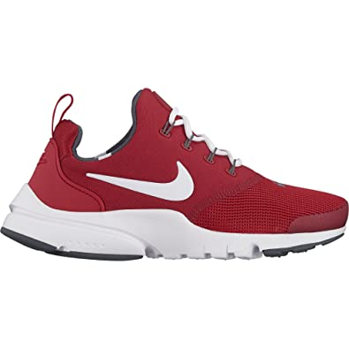 Nike Boys' Presto Fly Shoe Gym Red/White 4Y