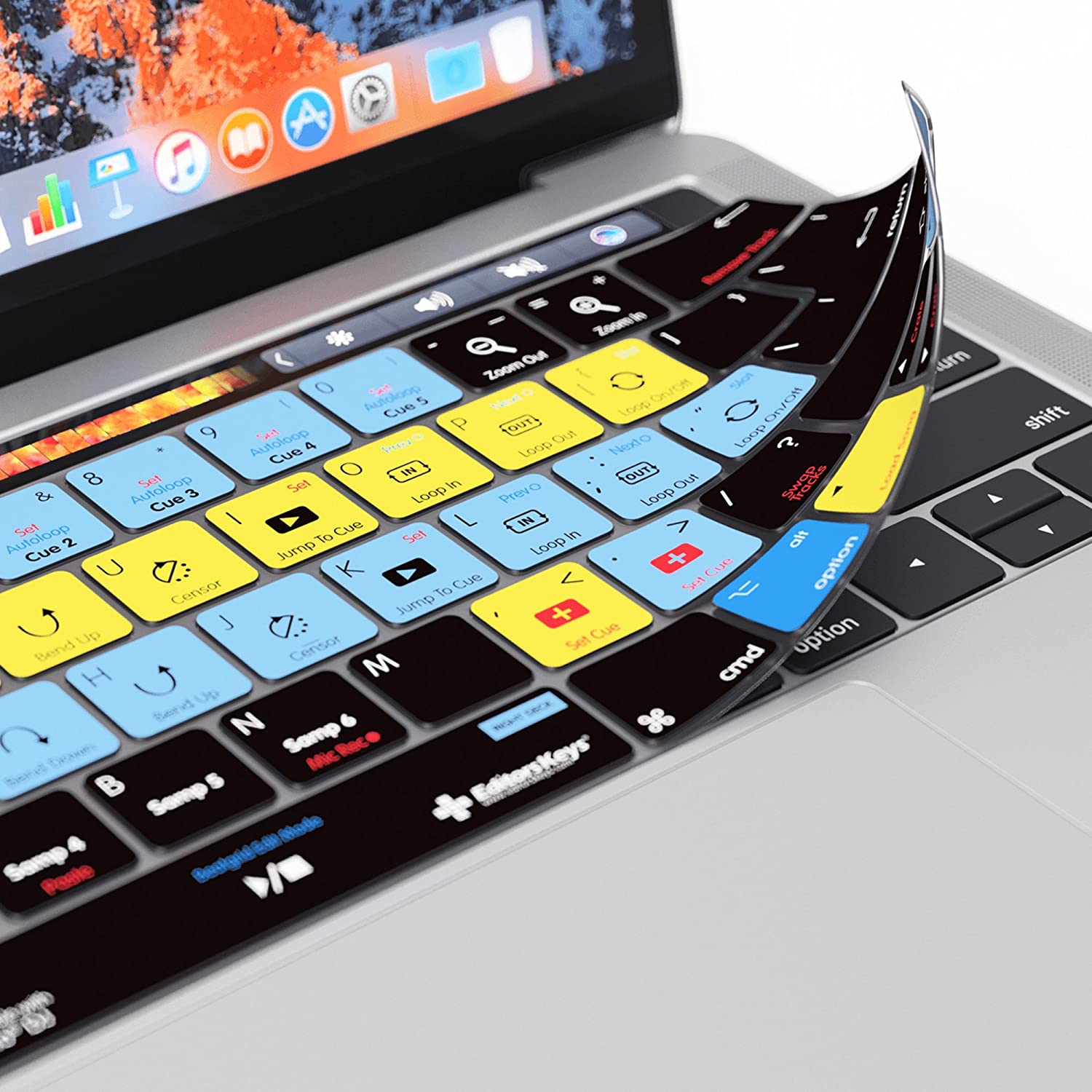 Serato DJ Keyboard Cover for Apple MacBook Pro with TouchBar 13 and 15 DJ Tools