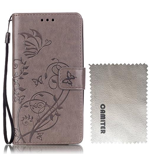13 opinioni per LG G3 Cover,Camiter Grigio Goffratura disegno della farfalla Cuoio Portafoglio