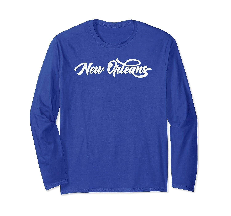 Distressed Hip-Hop NOLA New Orleans Long Sleeve Shirt-ah my shirt one gift
