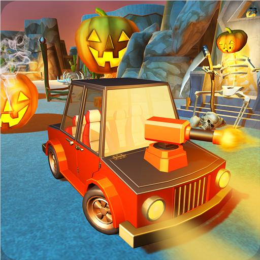 Scary Halloween Shooting Car -
