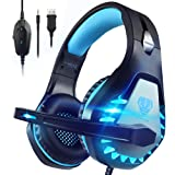 Pacrate Gaming Headset with Microphone for Laptop PS4 PS5 Mac Xbox One Headset Nintendo Gaming Headphones with Microphone Noi