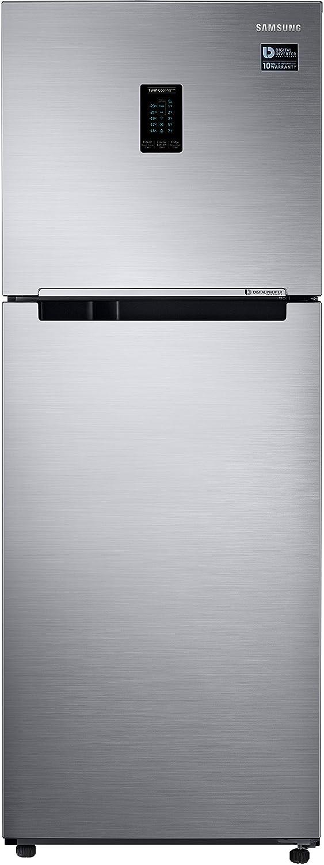 Samsung 321 L 2 Star Frost Free Double Door Refrigerator RT34M5515S8/HL, Elegant Inox  Disty Excl , Convertible, Inverter Compressor  Refrigerators
