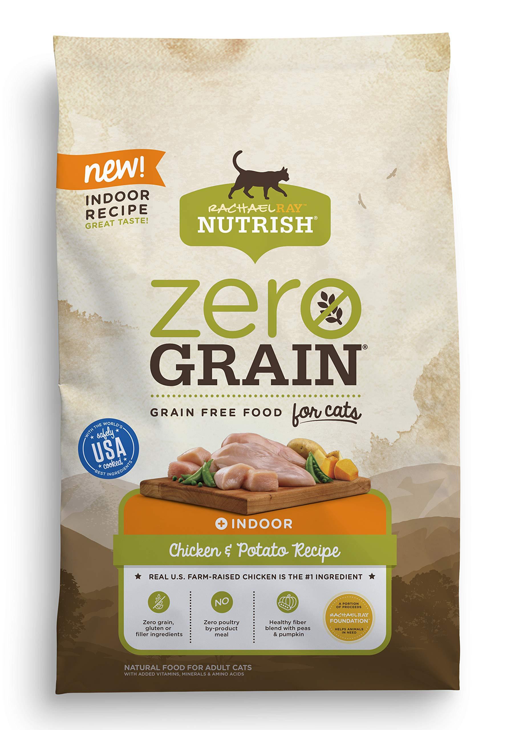 Rachael Ray Nutrish Zero Grain Natural Dry Cat Food, Grain Free, Chicken & Potato Recipe, 6 Lbs