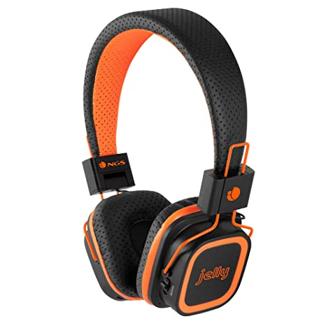 NGS Artica Jelly Bluetooth Stereo Headphones with Micro SD Card Slot - Orange