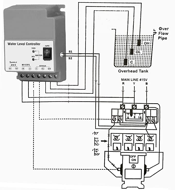 Buy 3 Phase Fully Automatic Water Level Controller For 3 Phase Motor