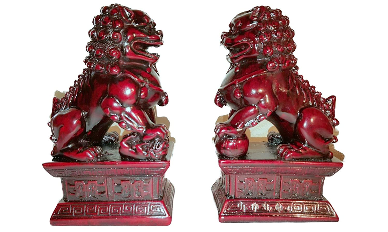Foo Dogs Statues Granite Chinese Fu Temple Lions Amazon