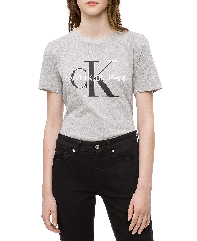 Calvin Klein Jeans Womens Standard Short Sleeve T-Shirt Monogram Logo 42BK601