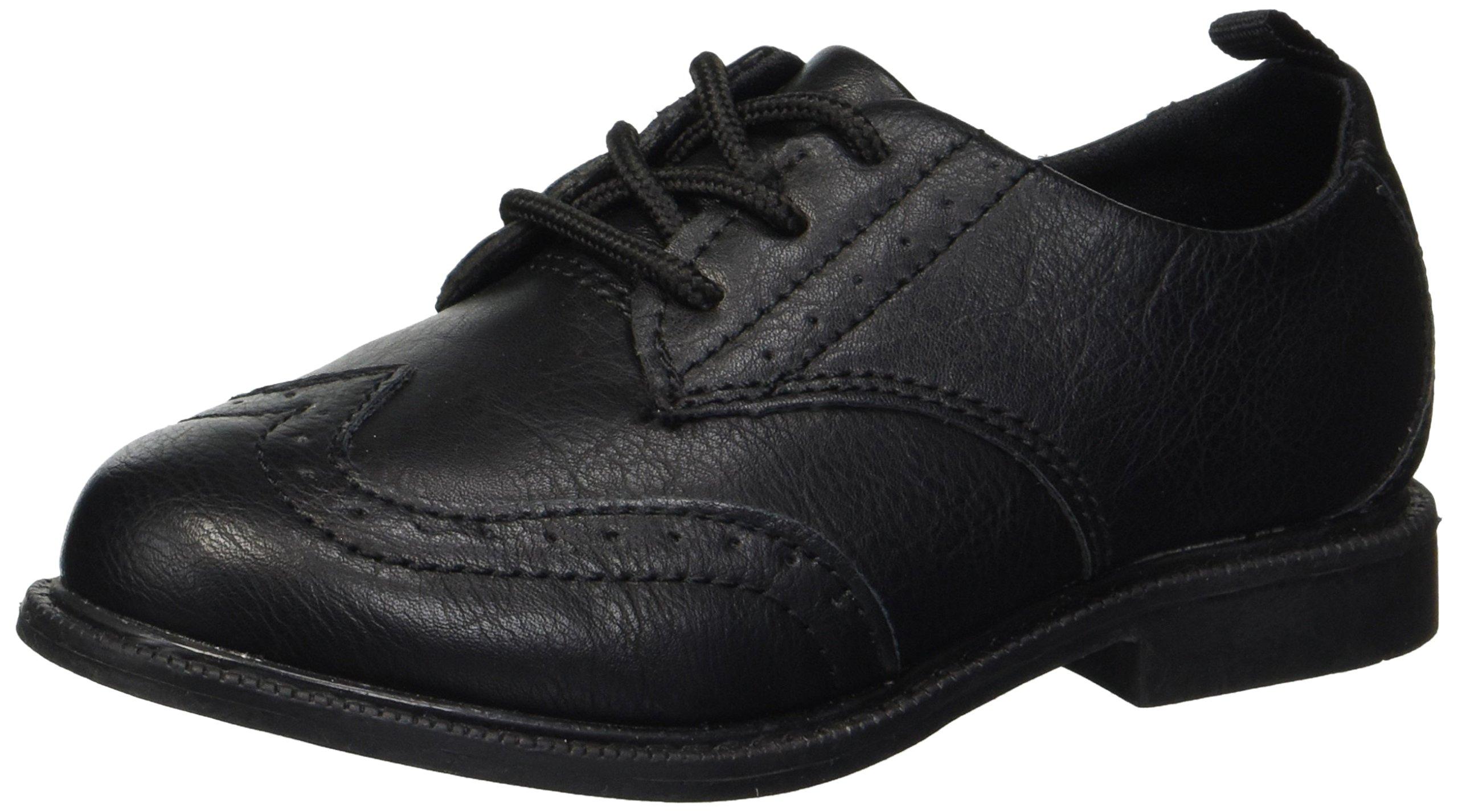 carter's Boys' Henry Dress Shoe Oxford, Black, 7 M US Toddler