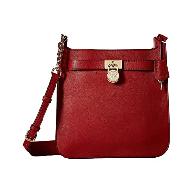4bae967d1788 Image Unavailable. Image not available for. Color: Michael Kors Hamilton  Medium Leather Messenger - Burnt Red - 30T7GHMM2L-361