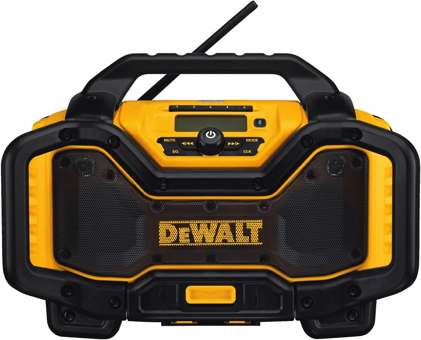 DEWALT 20V MAX Portable Radio & Battery Charger, Bluetooth (DCR025) - -