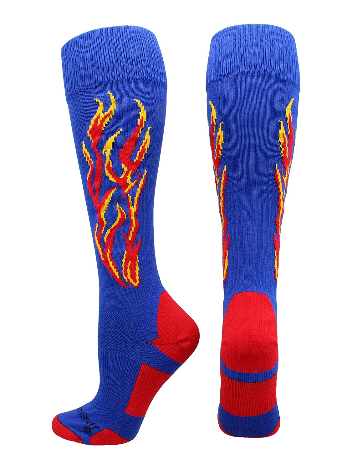MadSportsStuff Flame Soccer Style Over The Calf Athletic Socks (Multiple Colors)