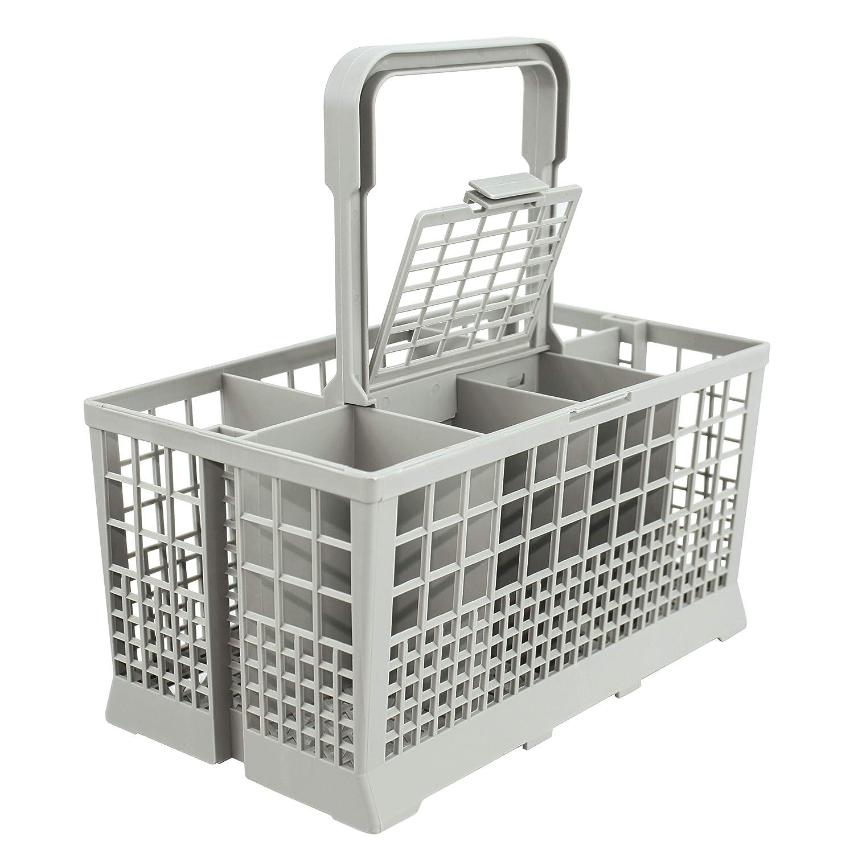 "Universal Dishwasher Cutlery Basket (9.5"" x 5.4""x 4.8"") fits Kenmore, Whirlpool, Bosch, Maytag, KitchenAid, Maytag, Samsung, GE, and more"
