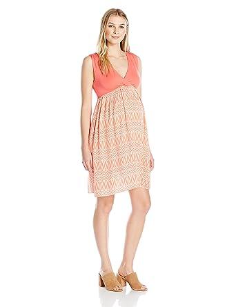 4e47977423 Everly Grey Women s Cleo Maternity Nursing Tank Dress at Amazon ...