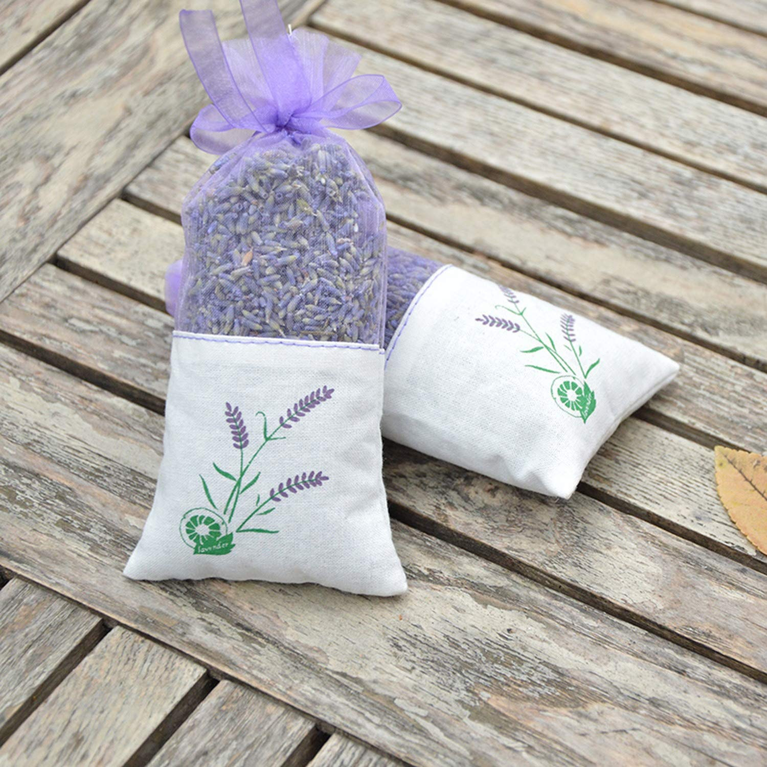 yuexianghui Natural Dried Flowers Lavender Bud Sachet Decorative Flower Aromatic Air Fresh Living Room Drawer,6 Pcs by yuexianghui (Image #3)