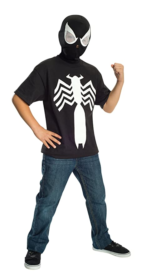 Rubies Ultimate Black Spider-man / Venom T-shirt and Mask, Child Medium