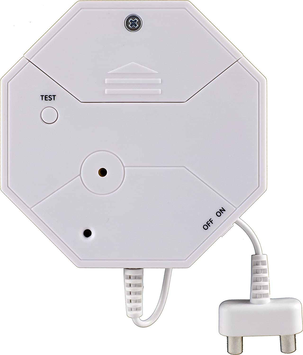 GE Personal Security Water Leak Alarm, Water Leak Detection,Ideal for Bathroom, Laundry Room, Basement, Garage and More, 45411