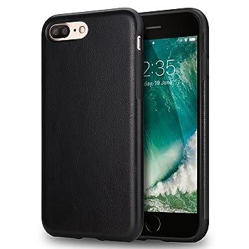 095c6e92e9b TENDLIN Funda iPhone 7 Plus Funda iPhone 8 Plus Cuero Silicona TPU Híbrido  Suave Carcasa para iPhone 7 Plus y iPhone 8 Plus (Negro): Amazon.es:  Electrónica