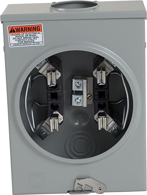 Square D by Schneider Electric UTRS101B 125A Ringless Overhead Meter Socket With No Bypass