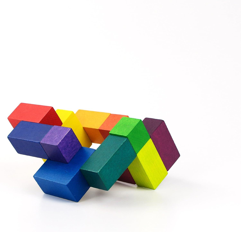 Beyond A0473 /Cube Puzzle en Bois PLAYABLE ART/