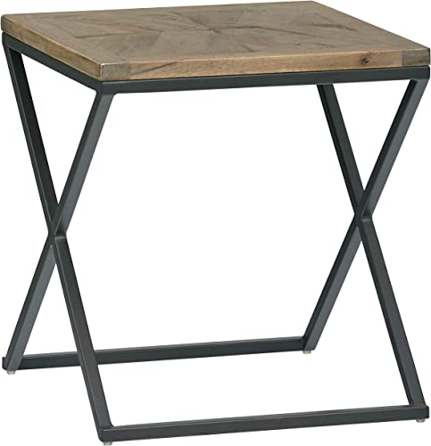 Amazon Brand Rivet Industrial Mango-Topped Side Table, 19.61 W