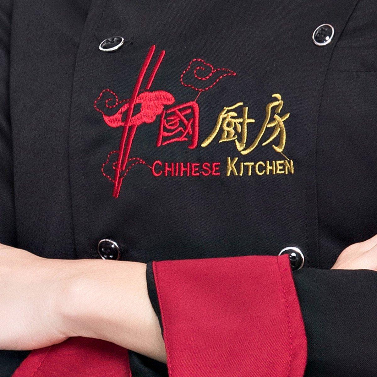 Amazon.com: Xinfu chino de chef uniforme manga larga ...